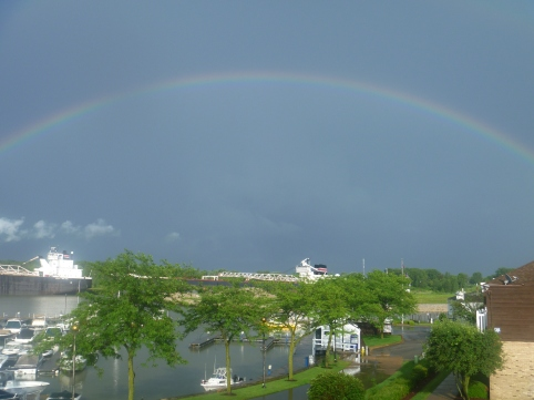 RainbowOverFreightersHuronRiver