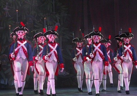 st/nutcrak Soldiers dancing during final dress rehearsal of the Washington Ballet's new production o
